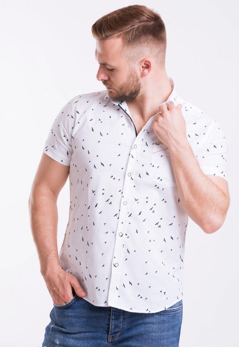 Рубашка Trend Collection TG0006 Белый + птицы