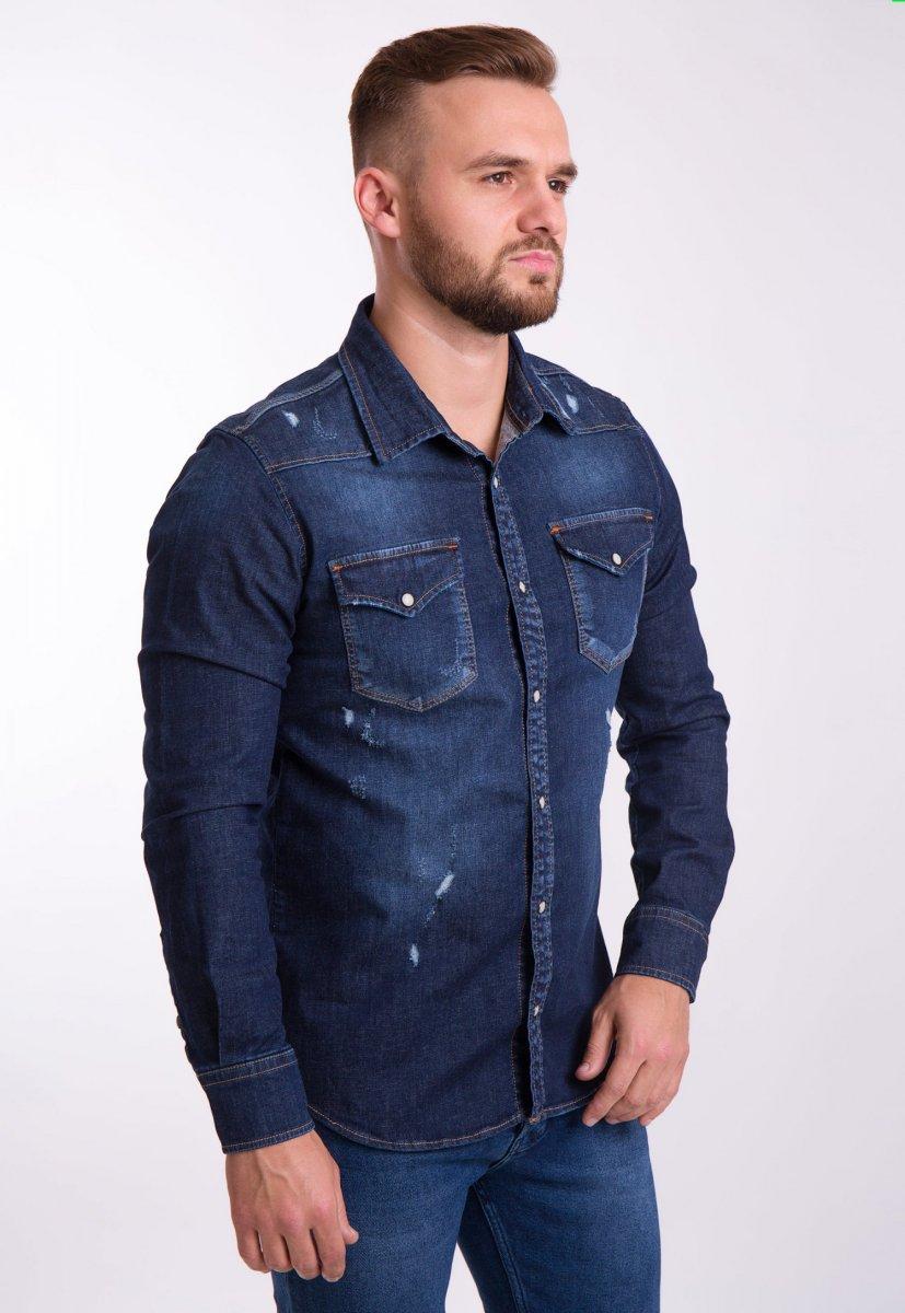 Рубашка INTEGRAL 6667 Темно-синий джинс