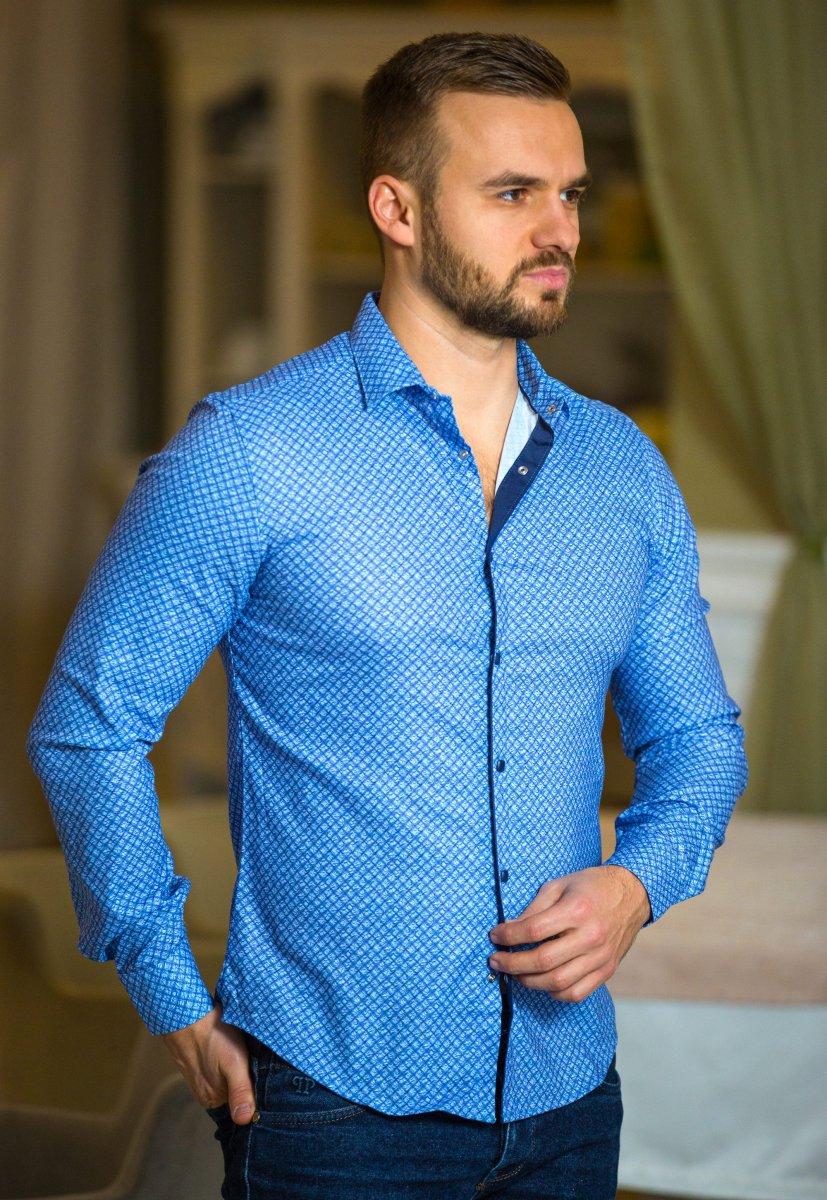 Синяя рубашка Trend 17982-05