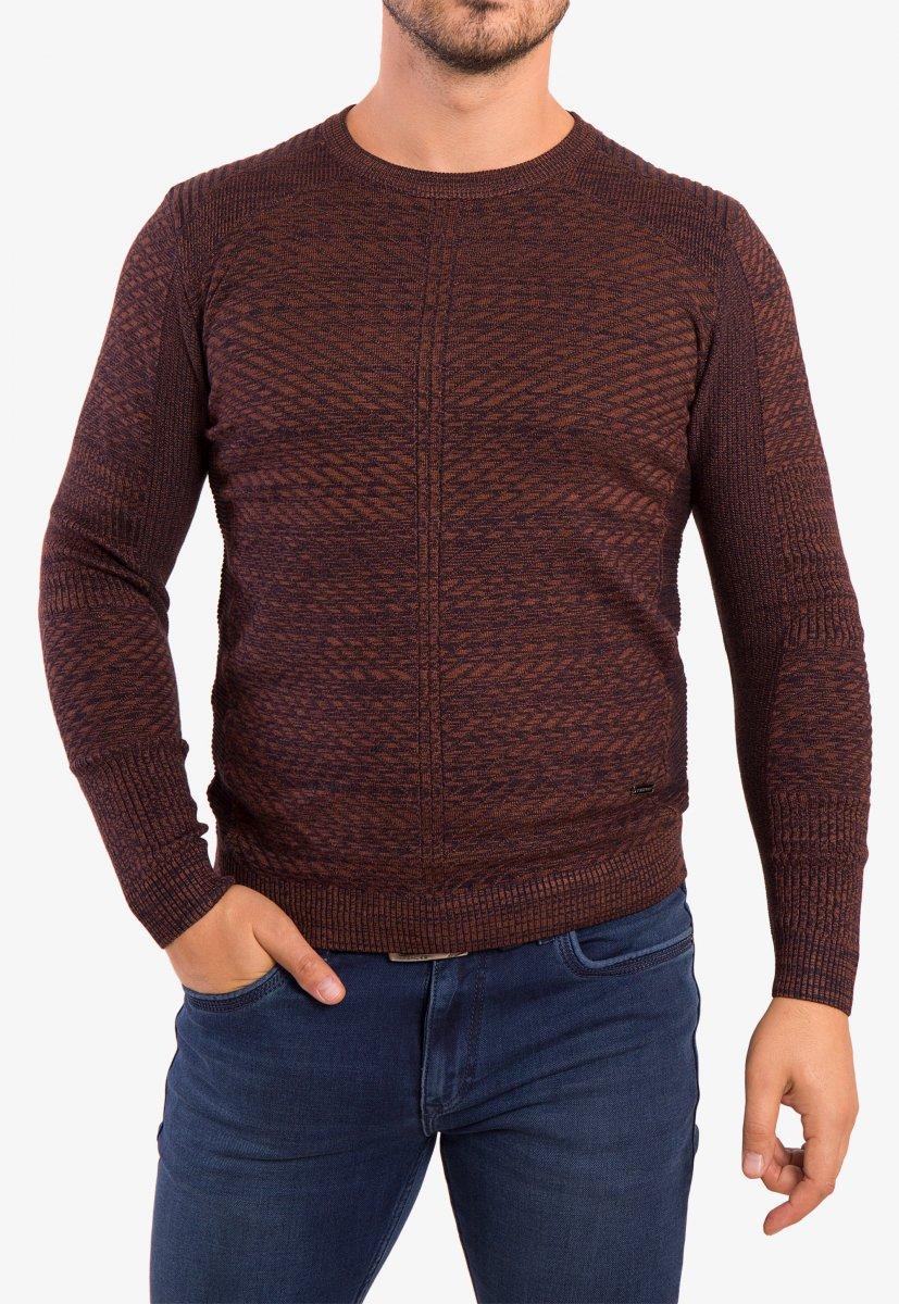 Свитер коричневый Trend 6640