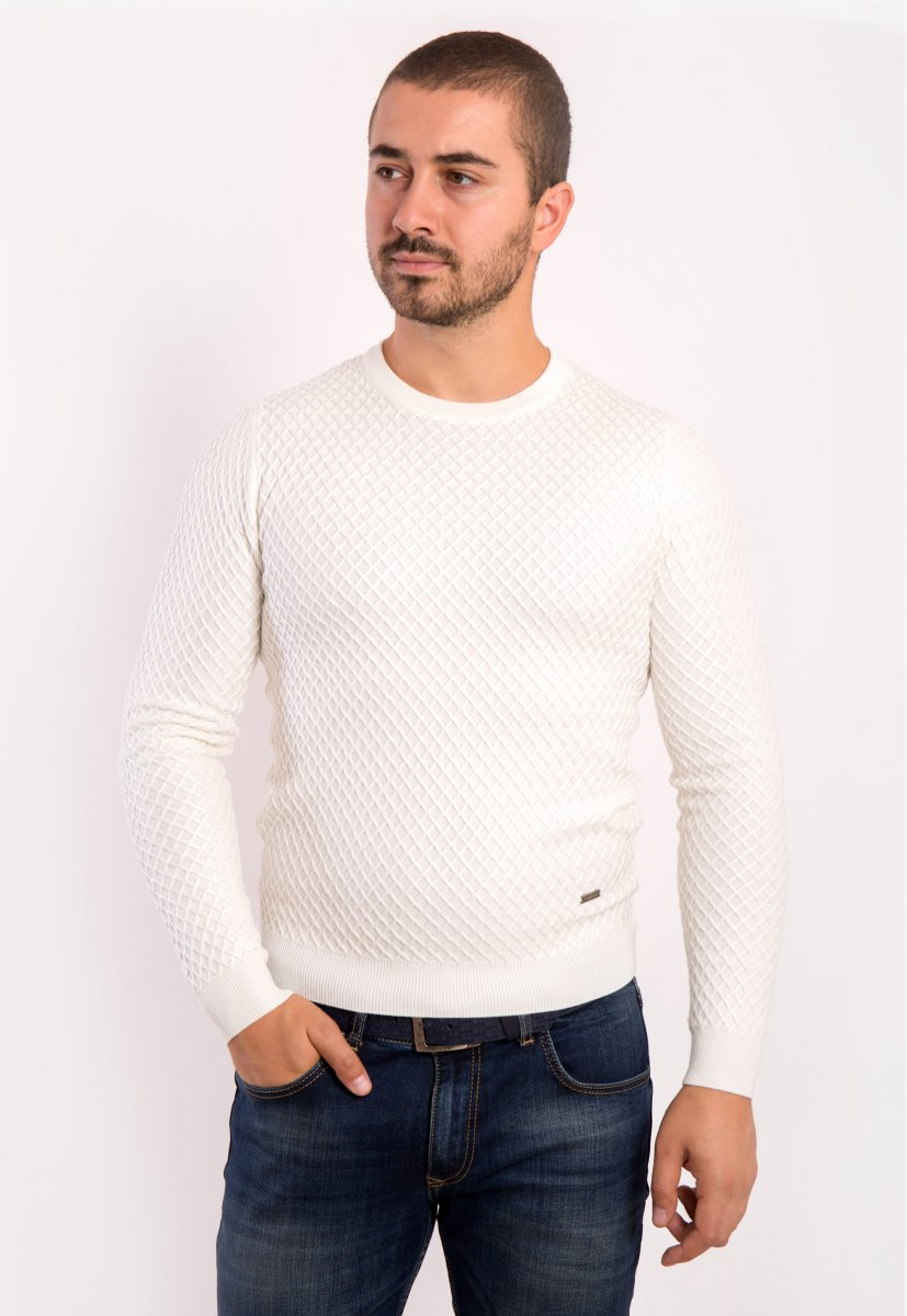 Белый свитер  Trend 6652
