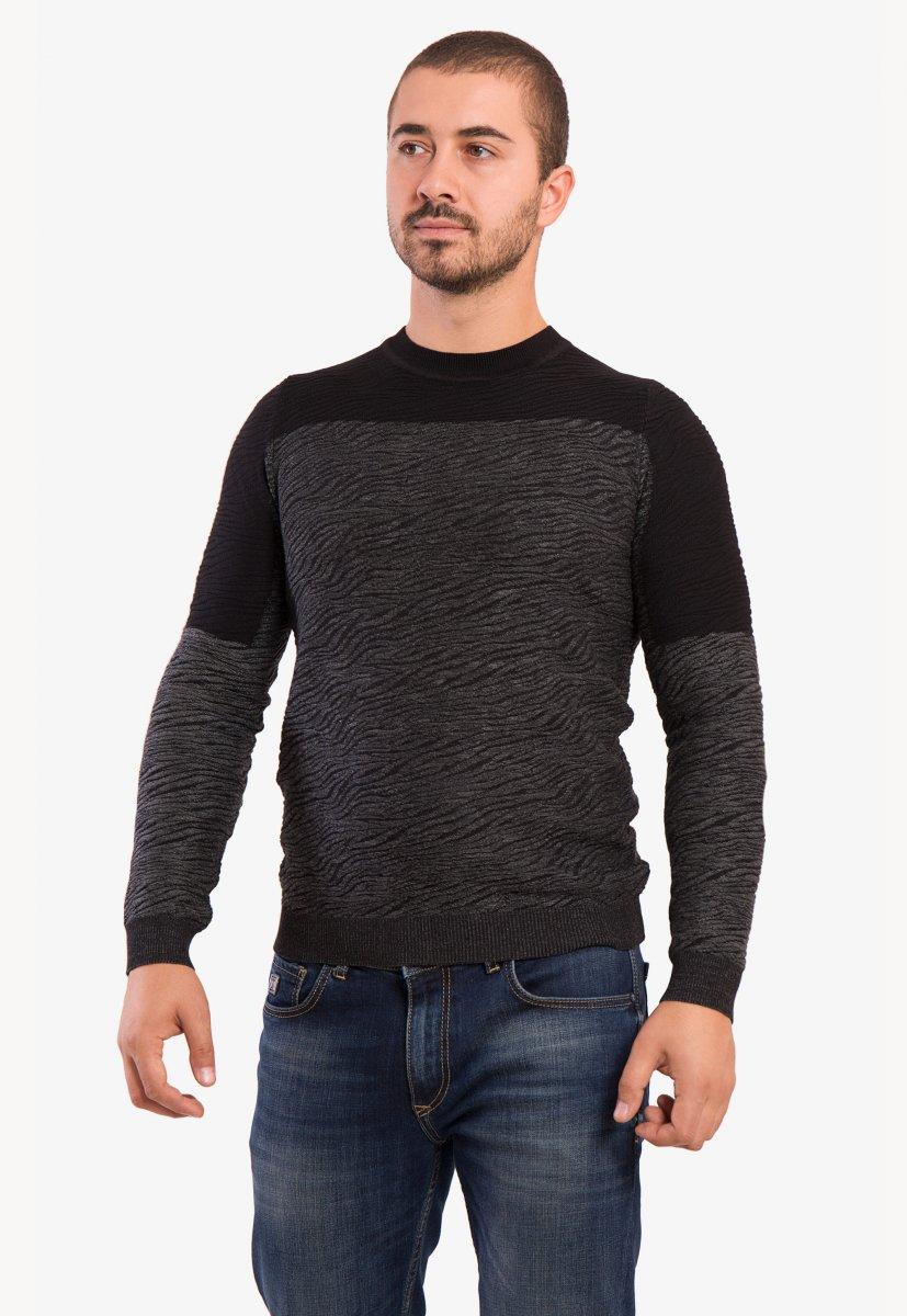 Свитер серо-черный Trend 9005