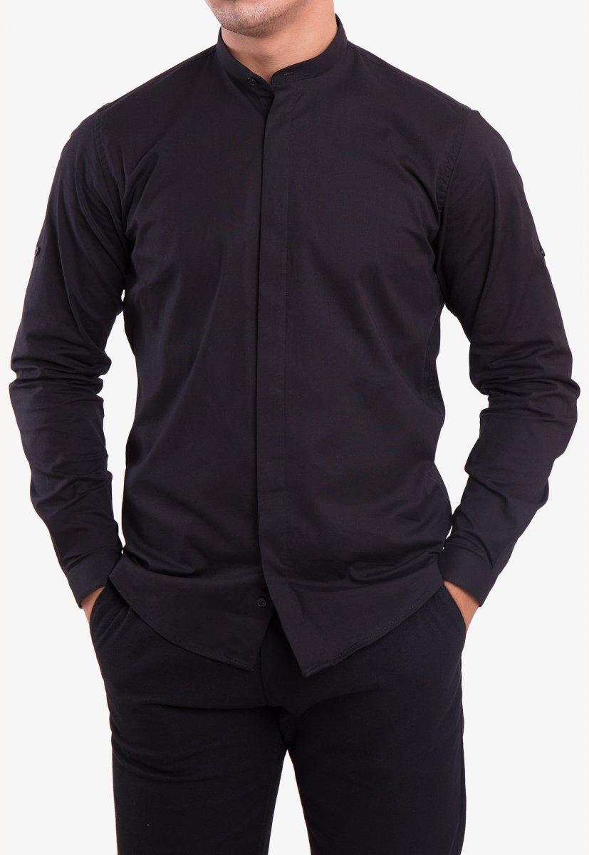 Рубашка черная Trend 2738