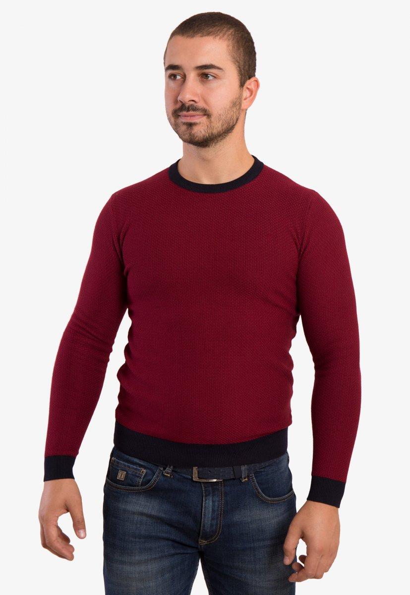 Бордовый свитер Trend 671