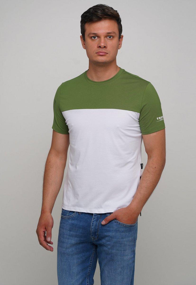 Футболка Trend Collection 81089-1 Зеленый + белый