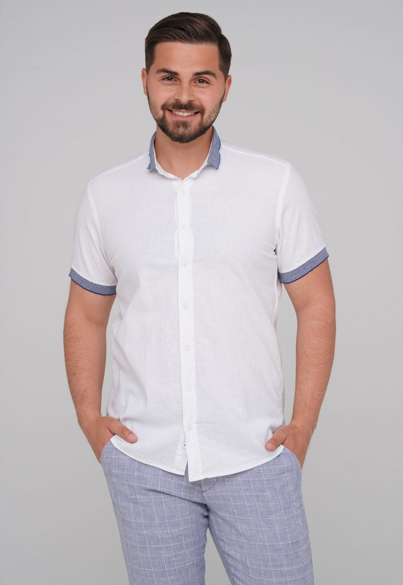 Рубашка Trend Collection 6003-1 белый + синий