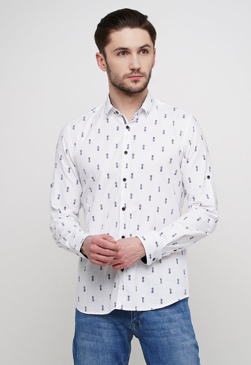 Рубашка Trend Collection 014 Белый+ананас