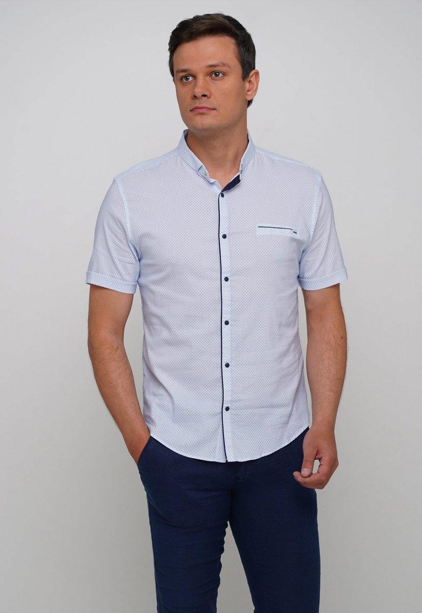 Рубашка Trend Collection 19859 Белый+синяя точка