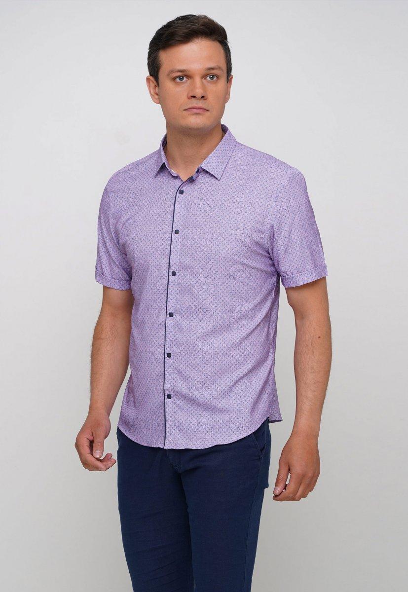 Рубашка Trend Collection 19771 Розовый+небесный ромб