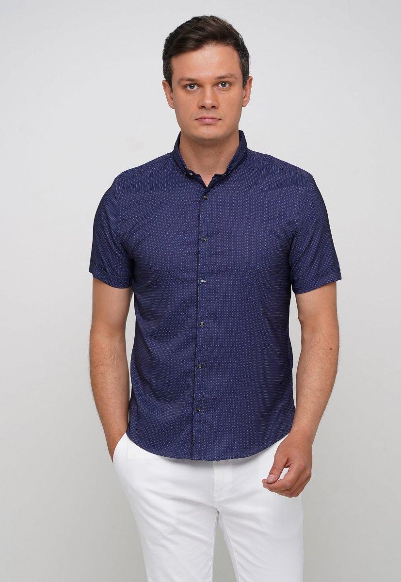 Рубашка Trend Collection 18273 Синий+белая точка