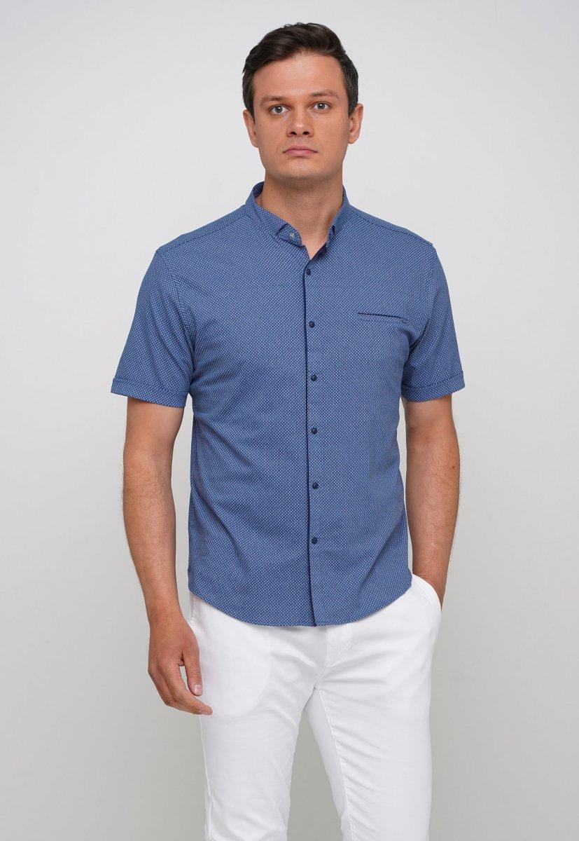 Рубашка Trend Collection 19859 Синий+белая точка