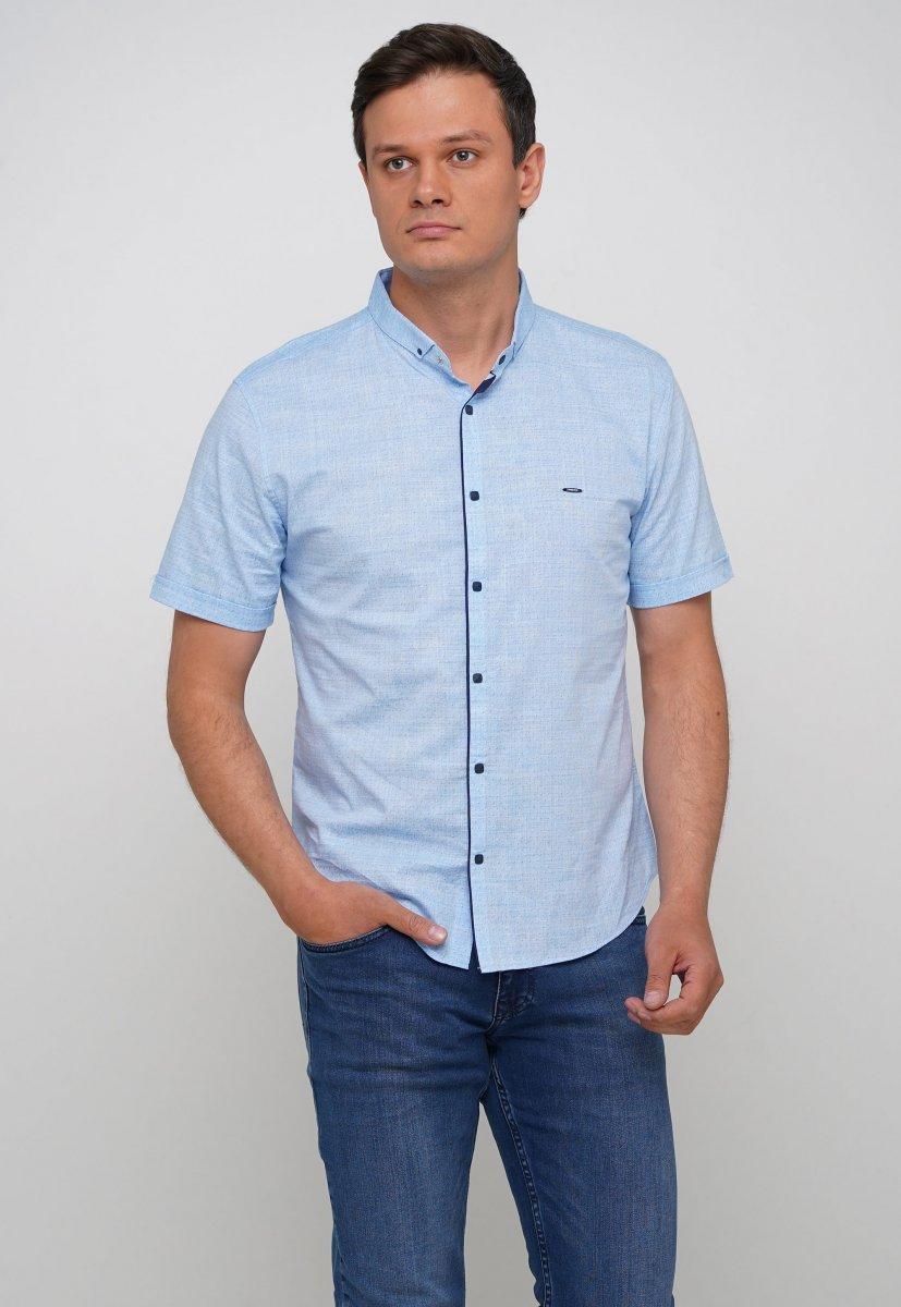 Рубашка Trend Collection 3666 Небесний+біла крапка
