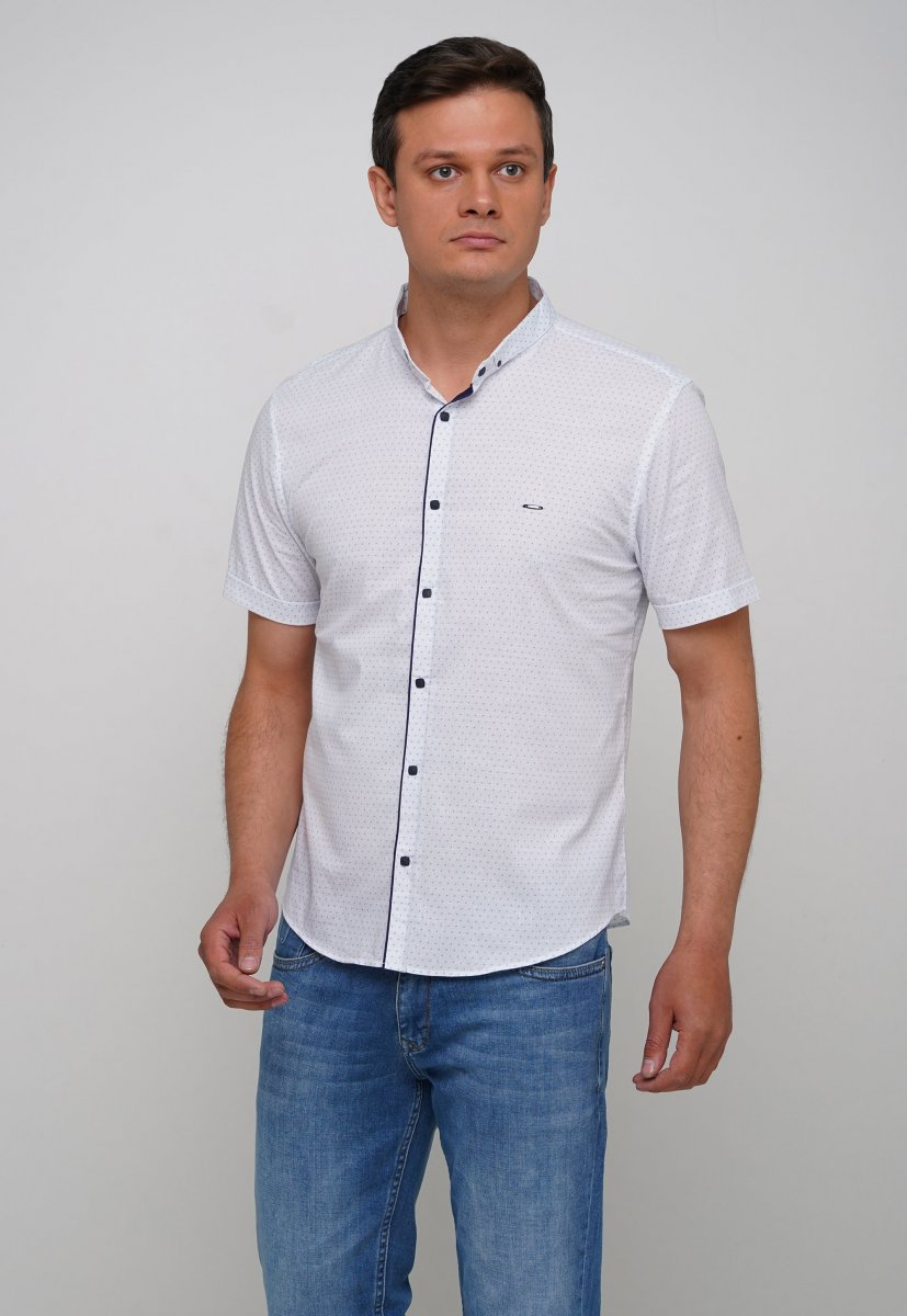 Рубашка Trend Collection 3666 Серый+небесная точка