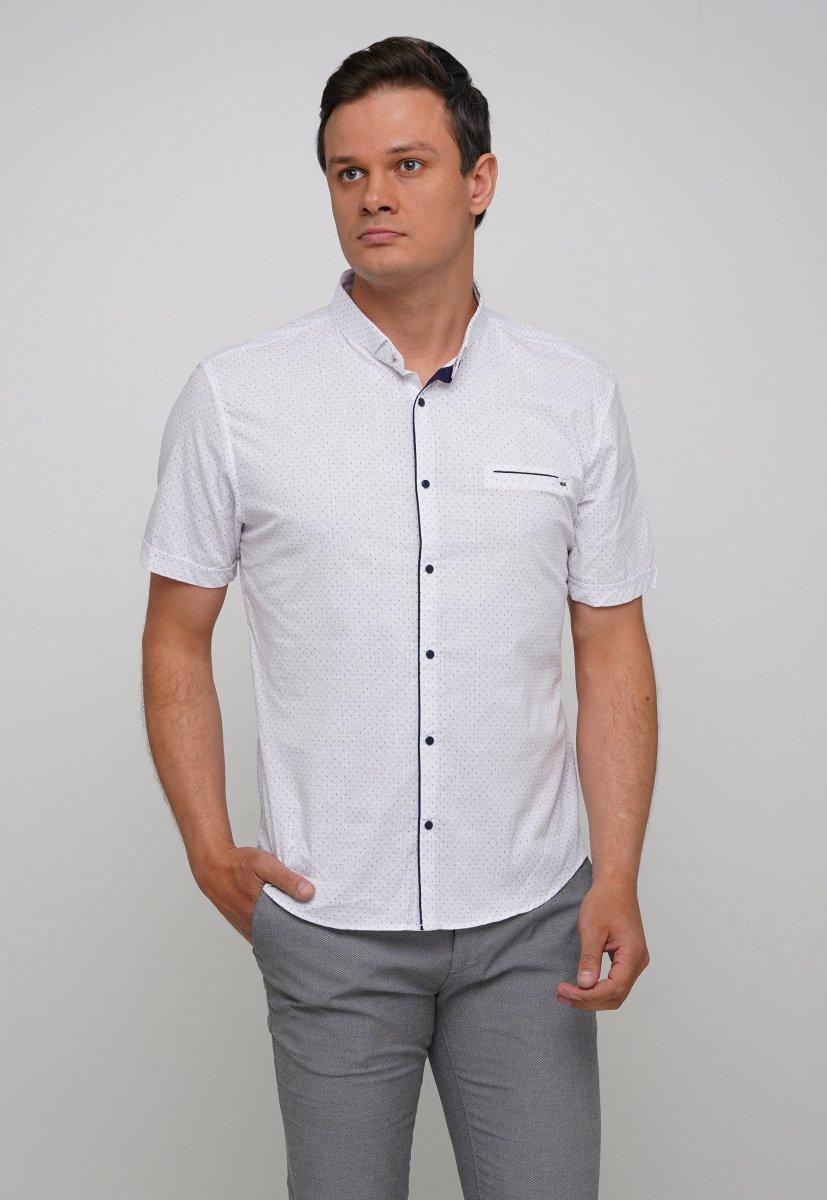 Рубашка Trend Collection 19643 Белый+синяя точка