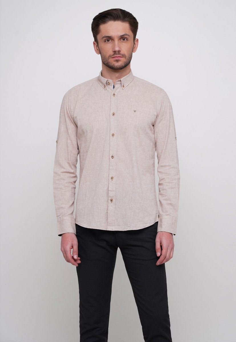 Рубашка Trend Collection 7000 Бежевый