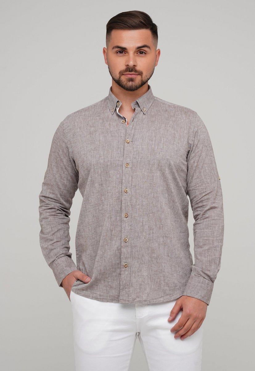 Рубашка Trend Collection 02-1001-1 Бежевый