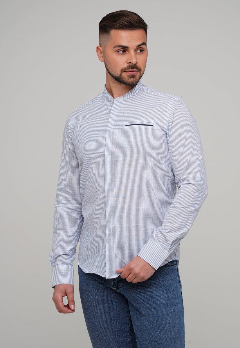 Рубашка Trend Collection 02-160 Белый + Синяя полоска