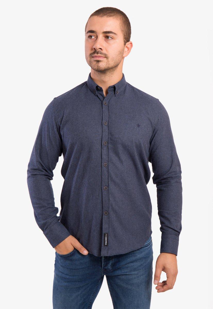 Рубашка темно-синяя Trend