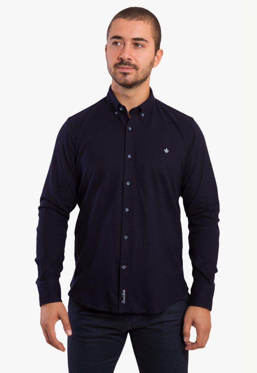 Темно-синяя рубашка Trend 2783
