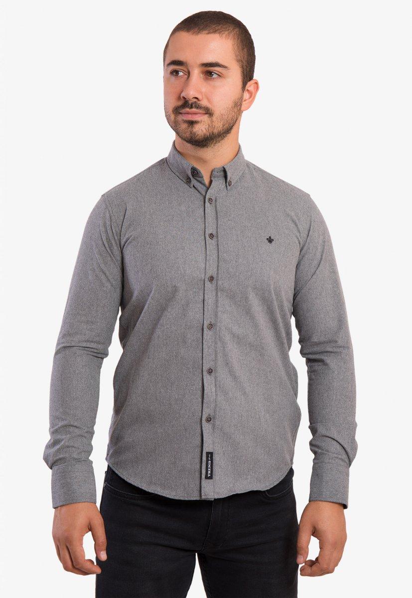 Серая рубашка Trend 02-1001