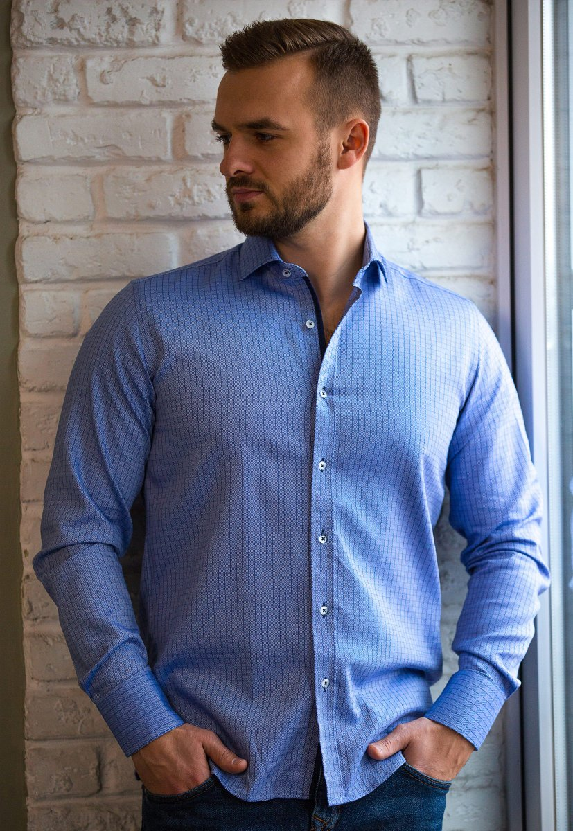 Небесная рубашка Trend 02-1091