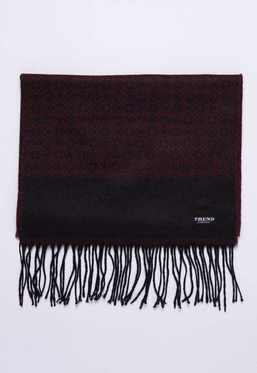 Шарф Trend Collection STK-11 Бордовый+серый