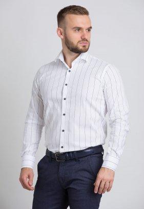 Рубашка Trend Collection U02-1090-20 Белый+черная полоска