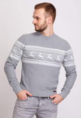 Свитер Trend Collection 9533 Серый+белые олени