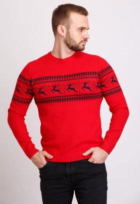 Свитер Trend Collection 9533 Красный+черные олени