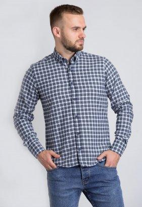 Рубашка Trend Collection U02-1001-20 Синій+біла клітинка