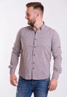 Рубашка Trend Collection 02-1096 Коричневый