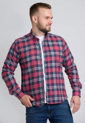 Рубашка Trend Collection U02-1001-20 Красный+синяя клетка