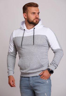 Худи Trend Collection 89001 Серый + белый капюшон