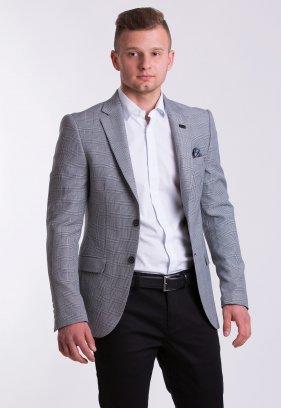 Пиджак TREND TJK-01 Серый + клетка