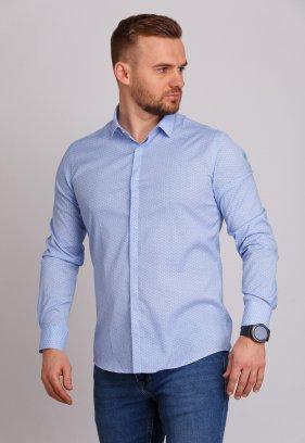 Рубашка Trend Collection 0803 Небесный+узор