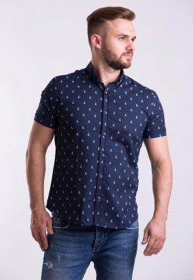 Рубашка Trend Collection TG0007 Темно-синий + кораблики