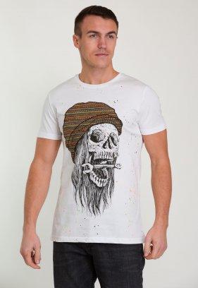 Футболка Trend Collection 008 Белый + череп