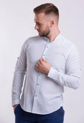 Рубашка Trend Collection U02-1046 Небесний + полоска