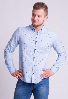Рубашка TREND Небесный+кораблики (Blue) 0005