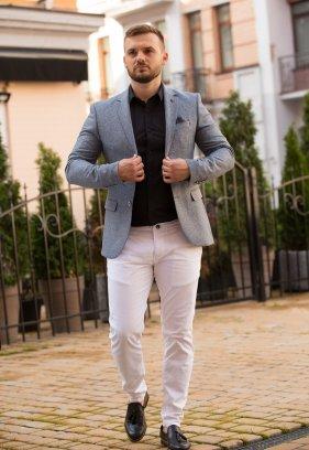 Пиджак Trend Collection 2022 Серо-синий (Marin)