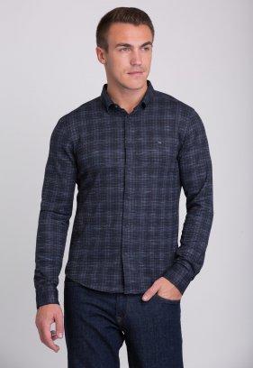 Рубашка Trend Collection 0792 Темно-синий+красная точка V01