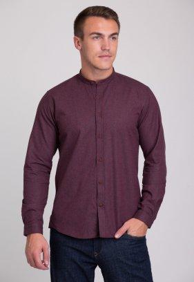 Рубашка Trend Collection 7008 Бордовый+синяя полоска №4