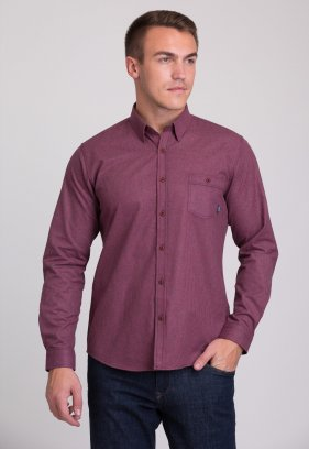 Рубашка Trend Collection 7009 Бордовый+синяя клетка №3