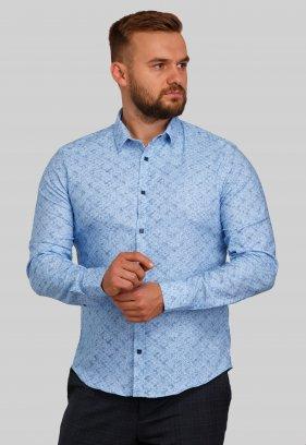 Рубашка Trend Collection 10411 Небесный+узор V02