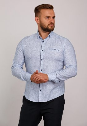Рубашка Trend Collection 10322 Небесный+узор V04