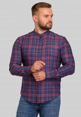 Рубашка Trend Collection 10349 Красный+синяя клетка V02