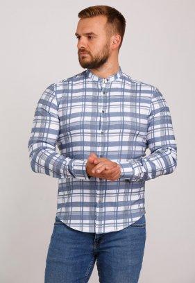 Рубашка Trend Collection 10349 Белый+серая клетка V01