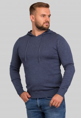 Свитер с капюшоном Trend Collection 3912 Серо-синий