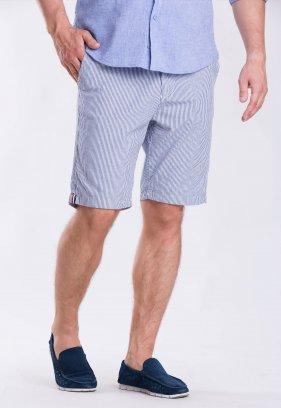 Шорты Trend Collection 12373 Серый+синяя полоска (LACI)