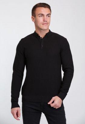 Джемпер Trend Collection 0262 Черный+пуговицы